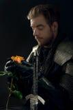 Портрет старого рыцаря Стоковые Изображения RF