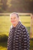 Портрет старого wooman outdoors стоковая фотография rf