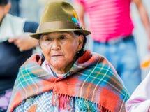 Портрет старой индигенной женщины Стоковая Фотография RF