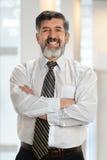 Портрет старшего испанского бизнесмена стоковая фотография rf