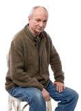 Портрет старшего усмехаясь человека Стоковые Фото