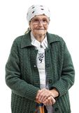 Портрет старшей женщины смотря камеру Стоковые Фотографии RF