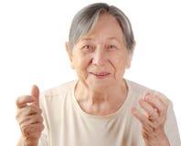 Портрет старшей женщины стоковые изображения rf