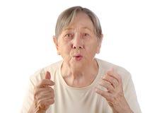 Портрет старшей женщины стоковое изображение