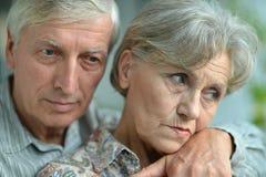 Портрет старшей пары Стоковая Фотография RF