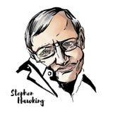 Портрет Стефана Hawking иллюстрация вектора