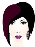 Портрет стильной девушки Стоковые Фотографии RF