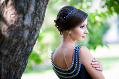 Портрет стиля красивой женщины греческого Стоковая Фотография