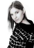 Портрет стороны женщины красоты Стоковая Фотография