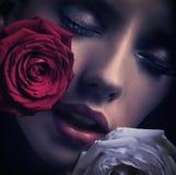 Портрет стороны женщины Стоковая Фотография RF