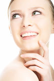 портрет стороны красотки близкий вверх по детенышам женщины Стоковые Изображения RF