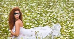 портрет Сторон-искусства красивейшей женщины Стоковое Изображение RF