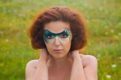 портрет Сторон-искусства красивейшей женщины Стоковые Фотографии RF