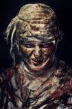 Портрет страшной мумии Стоковое Изображение