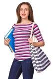 Портрет студента девушки с книгой Стоковое Изображение RF