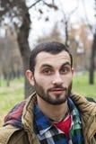 Портрет студента/человека в парке Стоковые Фото