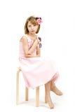 Портрет студии молодой красивой девушки Стоковые Фото