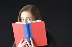 Раскройте взгляд украдкой книги Стоковая Фотография RF
