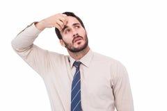 Портрет сфокусированного бизнесмена Стоковое фото RF