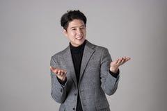 Портрет счастливого азиатского бизнесмена Стоковое Фото