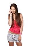 Портрет счастливого подростка брюнет Стоковое Изображение RF