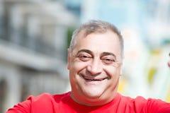 портрет счастливого человека возмужалый Стоковое Изображение
