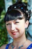 Портрет счастливой девушки в пуще Стоковое Изображение RF