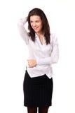 Портрет счастливой молодой женщины Стоковые Фото