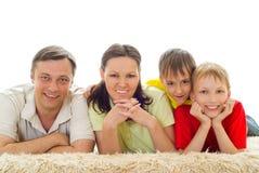 Портрет счастливой семьи Стоковые Фото