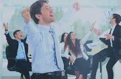 Портрет счастливой успешной бизнес-группы Стоковое Фото