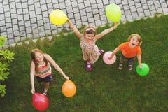 Портрет 3 счастливый детей Стоковое Изображение