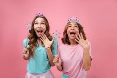 Портрет счастливых радостных девушек Стоковые Фотографии RF