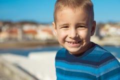Портрет счастливого крупного плана ребенка Стоковая Фотография RF