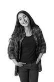 Портрет счастливого молодого девочка-подростка Стоковое фото RF