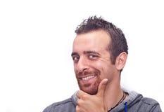 Портрет счастливого молодого человека стоковые изображения
