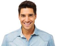 Портрет счастливого молодого человека стоковое изображение