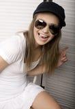 Портрет счастливого смешного девочка-подростка Стоковое Изображение