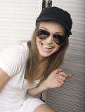 Портрет счастливого смешного девочка-подростка Стоковые Фото