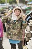 Портрет счастливого junkgirl стоковое изображение