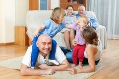 Портрет счастливое multigeneration Стоковая Фотография RF