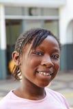Портрет счастливой африканской девушки Стоковое фото RF
