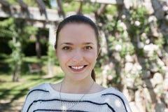 Портрет счастливой женщины Стоковые Фото