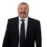 Портрет счастливый старший усмехаться бизнесмена Стоковые Фото