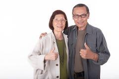 Портрет счастливых старших азиатских пар Стоковая Фотография