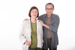 Портрет счастливых старших азиатских пар Стоковое фото RF