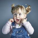 Портрет съемки студии ребенка Стоковые Изображения