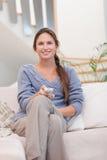 Портрет сь женщины женщины миря TV Стоковые Фотографии RF