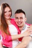 Портрет сь женщины и человека пары счастливые Стоковые Фотографии RF