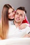 Портрет сь женщины и человека пары счастливые Стоковое Изображение