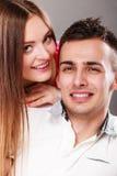 Портрет сь женщины и человека пары счастливые Стоковые Изображения